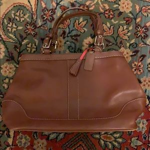 Coach Brown Leather Footed Satchel